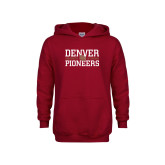 Youth Cardinal Fleece Hoodie-DU Pioneers