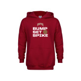 Youth Cardinal Fleece Hoodie-Bump Set Spike