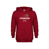 Youth Cardinal Fleece Hoodie-Pioneers Lacrosse Denver