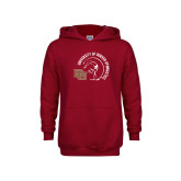 Youth Cardinal Fleece Hoodie-DU Gymnastics