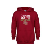 Youth Cardinal Fleece Hoodie-Game Set Match