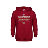 Youth Cardinal Fleece Hoodie-2018 NCHC Ice Hockey Champions