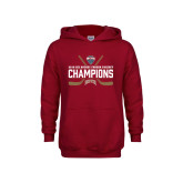Youth Cardinal Fleece Hoodie-NCHC Ice Hockey Champions