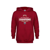 Youth Cardinal Fleece Hoodie-2018 Ice Hockey Champions