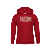 Youth Cardinal Fleece Hood-JR Pioneers Hockey