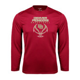 Syntrel Performance Cardinal Longsleeve Shirt-Basketball Stacked