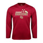 Syntrel Performance Cardinal Longsleeve Shirt-Soccer Swoosh