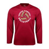 Syntrel Performance Cardinal Longsleeve Shirt-Volleyball Stars Design