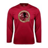 Syntrel Performance Cardinal Longsleeve Shirt-Skier Jumping Ski Design