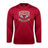 Syntrel Performance Cardinal Longsleeve Shirt-Lacrosse 50th Anniversary