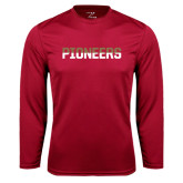 Syntrel Performance Cardinal Longsleeve Shirt-Pioneers Two Tone