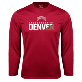 Syntrel Performance Cardinal Longsleeve Shirt-Stacked University of Denver - Two Tone