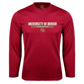 Syntrel Performance Cardinal Longsleeve Shirt-University of Denver Pioneers Bar Stacked