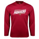 Syntrel Performance Cardinal Longsleeve Shirt-University of Denver Pioneers Slanted w/ Logo