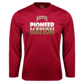 Syntrel Performance Cardinal Longsleeve Shirt-Pioneer Nation