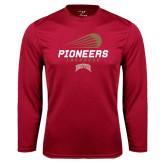 Syntrel Performance Cardinal Longsleeve Shirt-Pioneers Lacrosse Modern