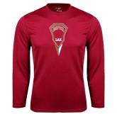 Syntrel Performance Cardinal Longsleeve Shirt-Denver LAX Geometric Stick