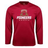 Syntrel Performance Cardinal Longsleeve Shirt-Pioneers Soccer Half Ball