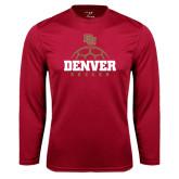 Syntrel Performance Cardinal Longsleeve Shirt-Denver Soccer Half Ball
