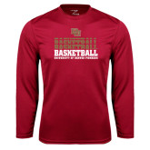 Syntrel Performance Cardinal Longsleeve Shirt-Basketball Repeating