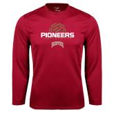 Syntrel Performance Cardinal Longsleeve Shirt-Pioneers Volleyball Geometric Half Ball
