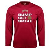 Syntrel Performance Cardinal Longsleeve Shirt-Bump Set Spike Volleyball