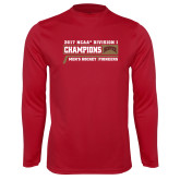 Syntrel Performance Cardinal Longsleeve Shirt-2017 NCAA Division I Mens Hockey Champions