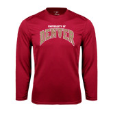 Syntrel Performance Cardinal Longsleeve Shirt-Arched University of Denver