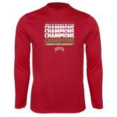 Performance Cardinal Longsleeve Shirt-2017 NCAA Division I Mens Hockey Champions