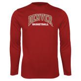 Performance Cardinal Longsleeve Shirt-Denver Basketball