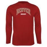 Performance Cardinal Longsleeve Shirt-Denver Hockey