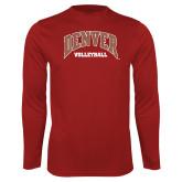 Performance Cardinal Longsleeve Shirt-Denver Volleyball