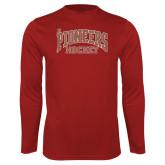 Performance Cardinal Longsleeve Shirt-JR Pioneers Hockey