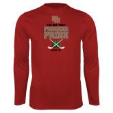 Performance Cardinal Longsleeve Shirt-Pioneer Pride Hockey
