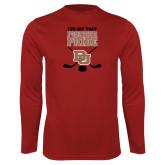 Performance Cardinal Longsleeve Shirt-Pioneer Pride DU Hockey