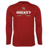 Performance Cardinal Longsleeve Shirt-University of Denver Hockey