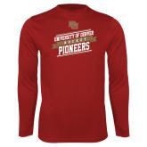 Performance Cardinal Longsleeve Shirt-University of Denver Pioneers Hockey