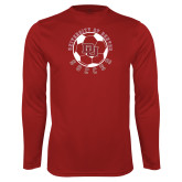 Performance Cardinal Longsleeve Shirt-DU Soccer