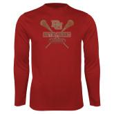 Performance Cardinal Longsleeve Shirt-Denver Pioneers Lacrosse
