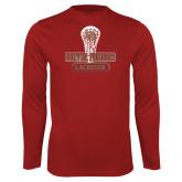 Performance Cardinal Longsleeve Shirt-DU Lacrosse