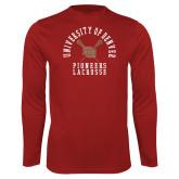 Performance Cardinal Longsleeve Shirt-Pioneers Lacrosse