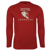 Performance Cardinal Longsleeve Shirt-Denver Lacrosse
