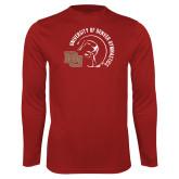 Performance Cardinal Longsleeve Shirt-DU Gymnastics