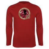 Performance Cardinal Longsleeve Shirt-DU Skiing