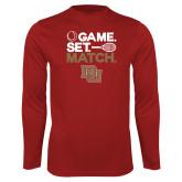 Performance Cardinal Longsleeve Shirt-Game Set Match