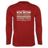Performance Cardinal Longsleeve Shirt-2018 NCAA Skiing National Champions