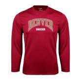 Syntrel Performance Cardinal Longsleeve Shirt-Soccer