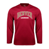 Syntrel Performance Cardinal Longsleeve Shirt-Lacrosse