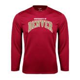 Syntrel Performance Cardinal Longsleeve Shirt-Arched U of Denver 2 Color Version