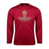 Syntrel Performance Cardinal Longsleeve Shirt-Denver Pioneers Lacrosse Stick